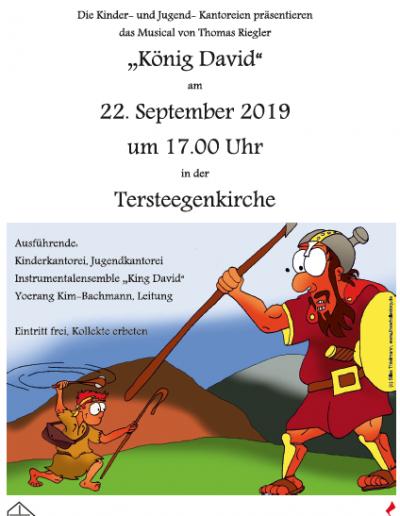 """""""König David"""" Musical am 22.09, 17 Uhr"""