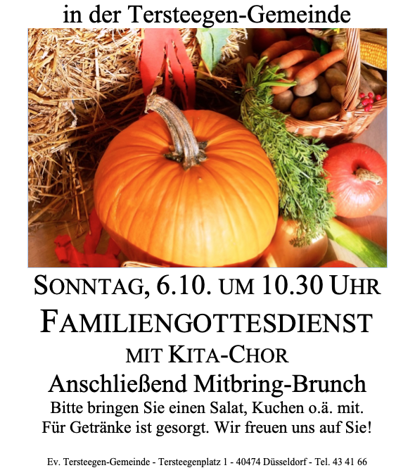 ERNTE-DANK-FEST, Sonntag, 06.10 um 10:30