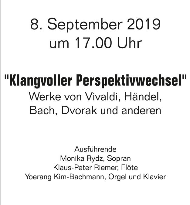 Tersteegenmusiken – Soirée am Sonntag, 08.09, 17 Uhr
