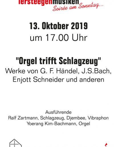Tersteegenmusiken – Soirée am Sonntag 13.10.2019, 17 Uhr