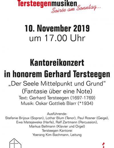 TersteegenMusiken am 10. November, 17 Uhr