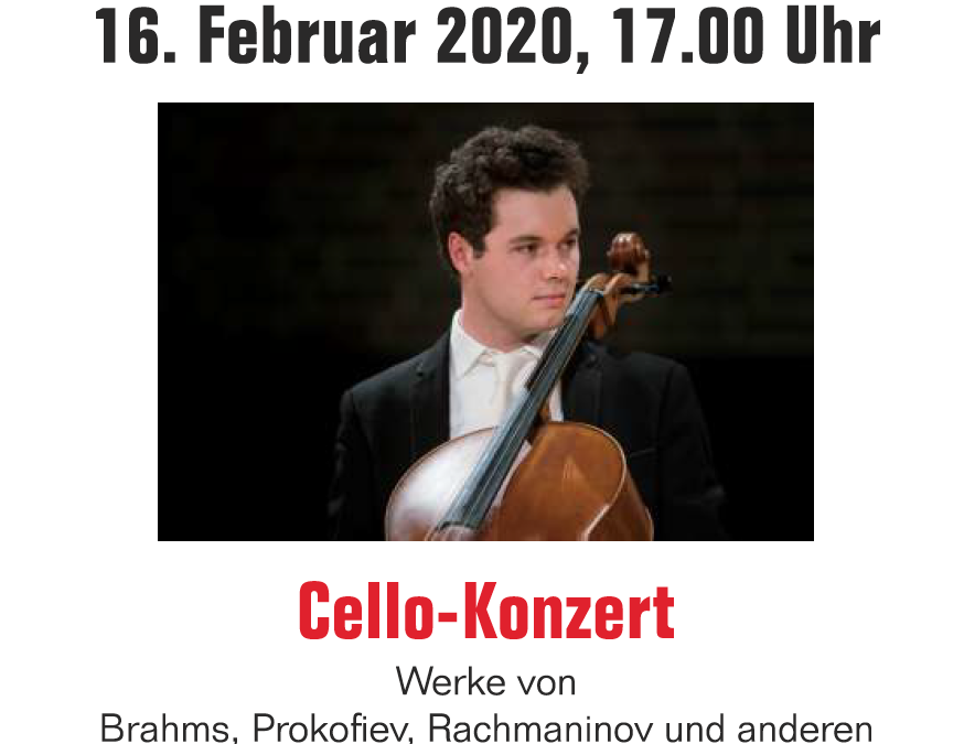 Neuer Termin: Cello-Konzert: 16.02, 17:00 Uhr