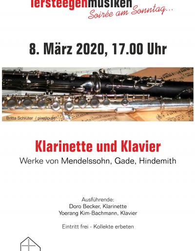 Tersteegenmusiken am 8. März 2020, 17 Uhr