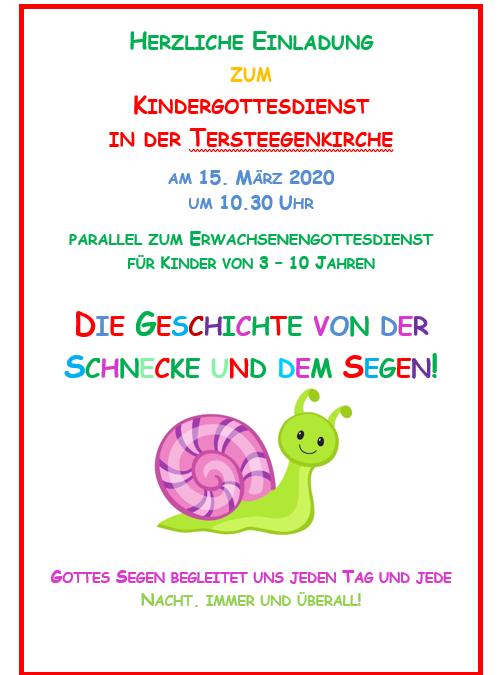 Kindergottesdienst 15. März
