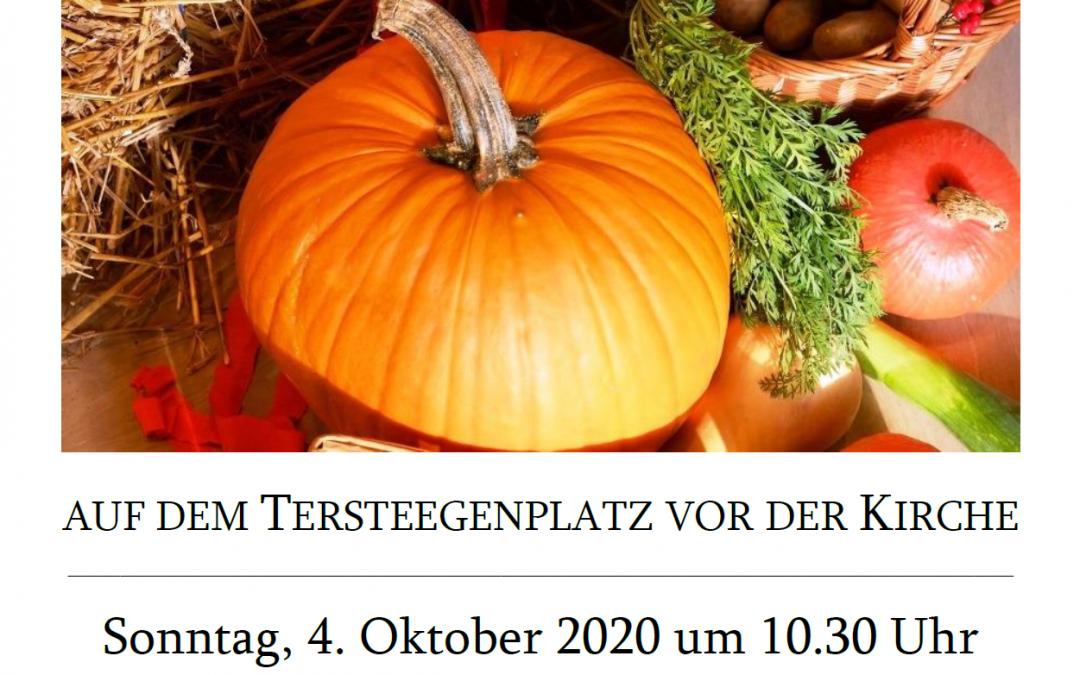 Erntedankgottesdienst auf dem Tersteegenplatz, 4.10.2020 um 10:30 Uhr