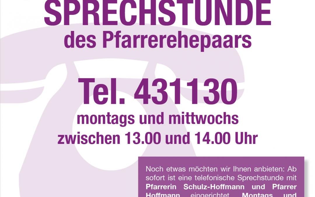 Tersteegen – Telefonsprechstunde