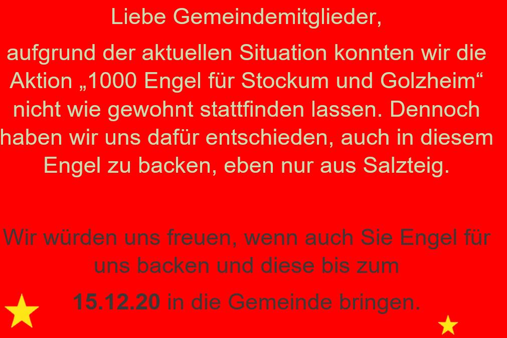 1000 Engel für Golzheim und Stockum – Backhelfer gesucht!